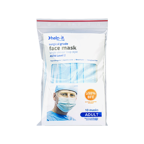 Face Masks | Help It 4 Ply Ear Loop Masks Packs of 10