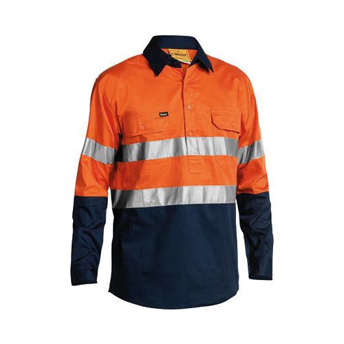 Bisley | 3M Taped Closed Front Cool Lightweight Hi Vis Shirt | BSC6896