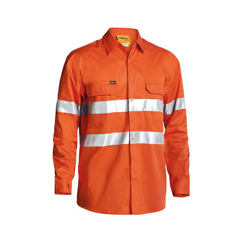 Bisley | 3M Taped Cool Lightweight Hi Vis Drill Shirt | BS6897