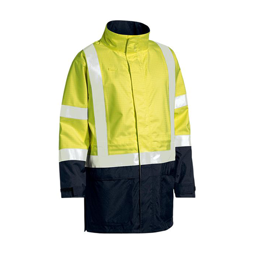 Bisley | 3M Taped Hi Vis Anti Static Wet Weather Jacket | BJ6963T