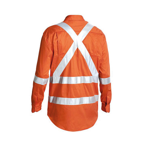 Bisley | 3M Taped X Back Cool Lightweight Hi Vis Drill Shirt | BS6156T