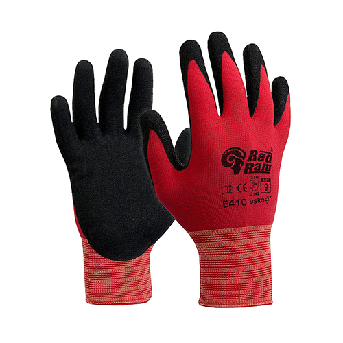 Esko | Red Ram Latex Header Carded Gloves | 12 Pairs