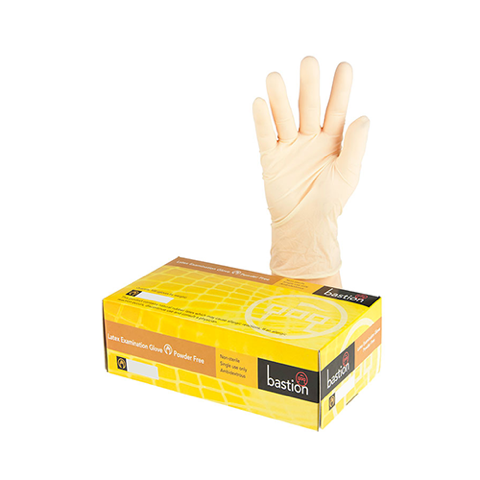Bastion | Latex Gloves Powder Free | Large
