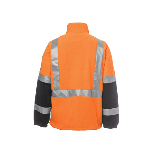 JBs Wear | Hi Vis Day & Night H Pattern Biomotion 1/2 Zip Polar Fleece | 6DHPF