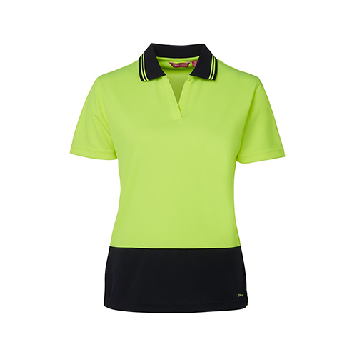 JBs Wear | Hi Vis Women's Short Sleeve Non Button  Polo | 6HNB1