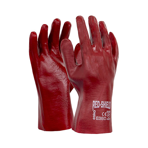 Esko | Red Shield Gauntlet 27cm Gloves | 12 Pairs