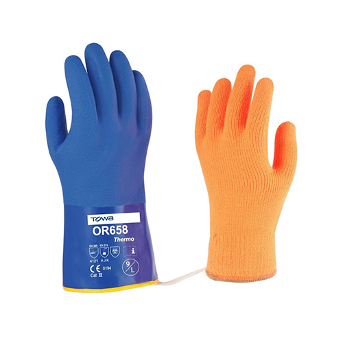 Esko | Towa Blue Thermal PVC Gloves | Carton of 120 Pairs