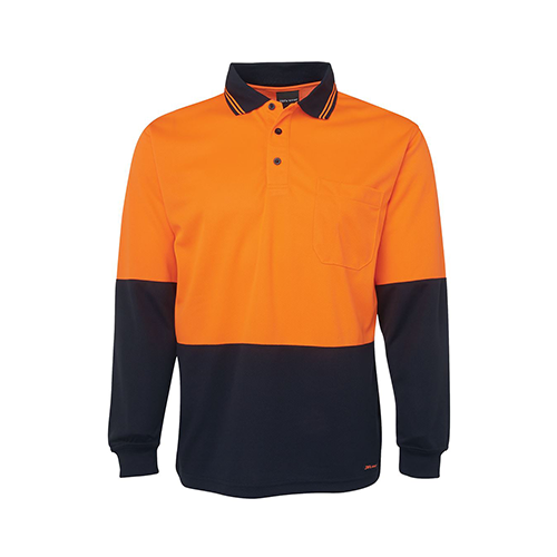 JBs Wear | Hi Vis Long Sleeve Polo Shirt