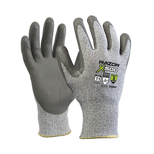Esko | Razor X500 Cut 5 PU Dip Gloves | Carton of 120 Pairs