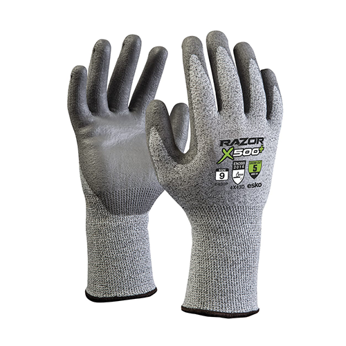 Esko | Razor Plus X500+ Cut 5 PU Dip Gloves | Carton of 120 Pairs
