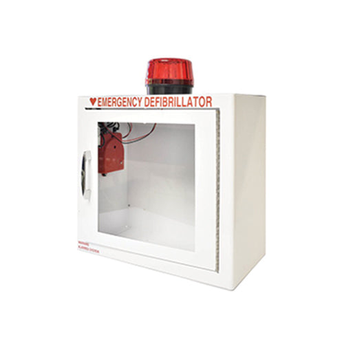AED Cabinet Basic White With Alarm Light