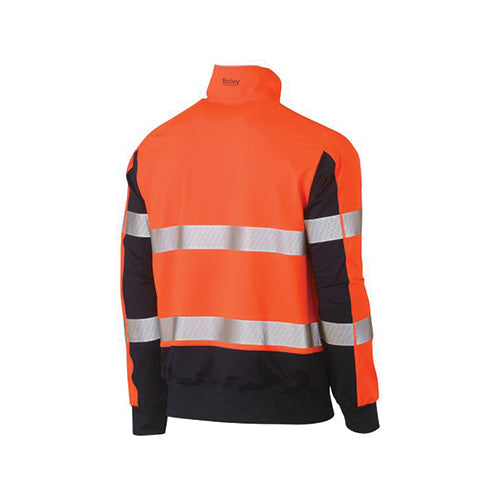 Bisley | Taped Hi Vis Stretchy Fleece Zip Pullover | BK6817T