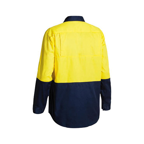 Bisley | Cool Lightweight Hi Vis Long Sleeve Drill Shirt | BS6895