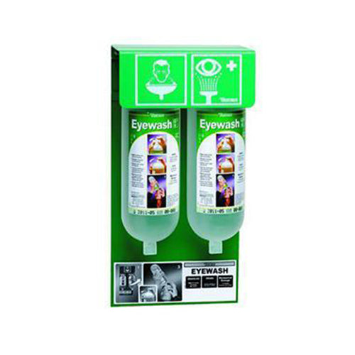 Eye Wash Wall Station + Eyewash Bottles | Pack of 2