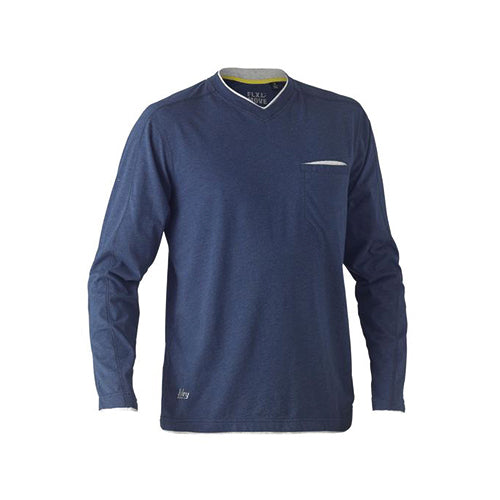 Bisley | Flex & Move Cotton V-Neck Long Sleeve Tee | BK6933