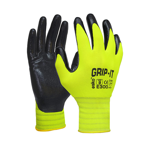 Esko | Grip It Hi Vis Nitrile Gloves | 12 Pairs