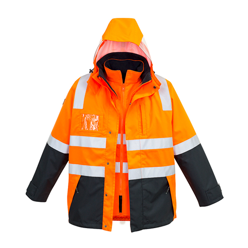 Syzmik Workwear | Hi Vis 4 in 1 Waterproof Jacket | ZJ532