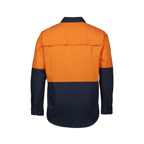 JBs Wear | Hi Vis Close Front Long Sleeve 150g Shirt | 6HVCS