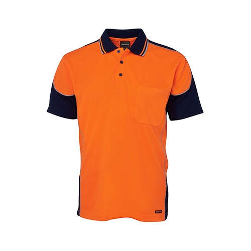 JBs Wear | Hi Vis Contrast Piping Polo | 6HCP4