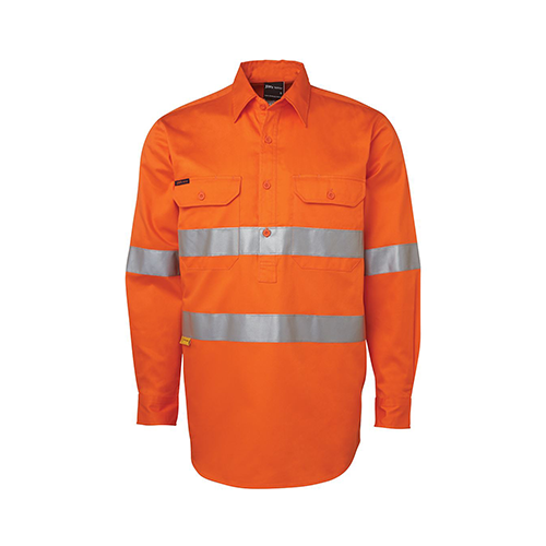 JBs Wear | Hi Vis Day & Night Close Front 190g Shirt | 6HWCF