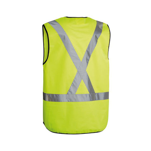 Bisley | Hi Vis Safety Vest X Back Tape | BT0347