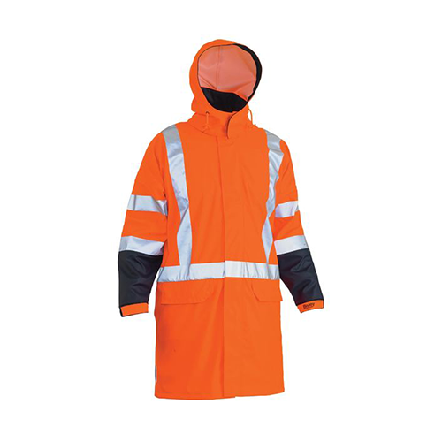 Bisley | Hi Vis Stretch PU TTMC-W17 X Back Rain Coat | BJ6955XT