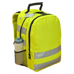 Hi Viz  Yellow Backpack with Reflective Material