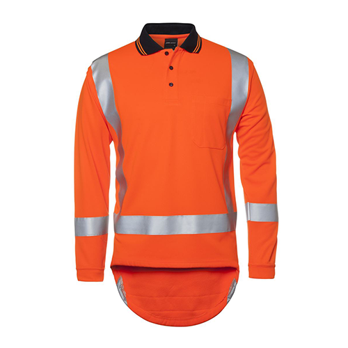 JBs Wear | Hi Vis (D+N) Long Sleeve Non Cuff TTMC-W Traditional Polo