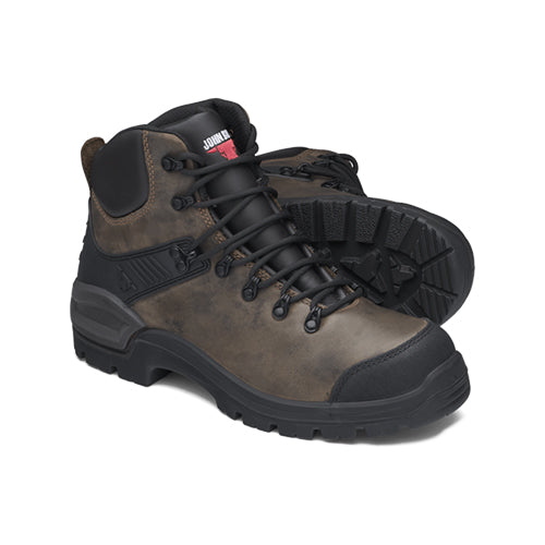 John Bull | Rustic Brown Lace Up Non Safety Hiker with Stretch Guard | 3507