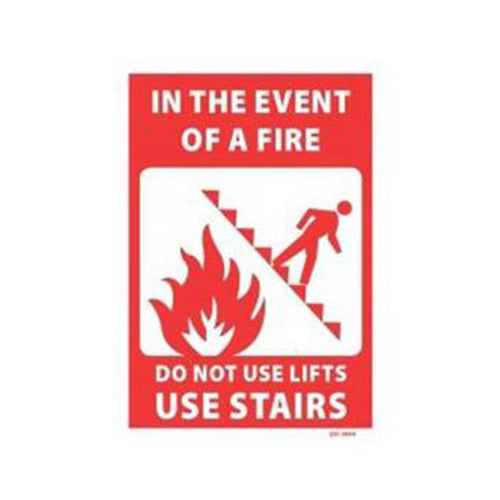 In The Event Of A Fire Please Use Stairs Sign | 240mm x 340mm