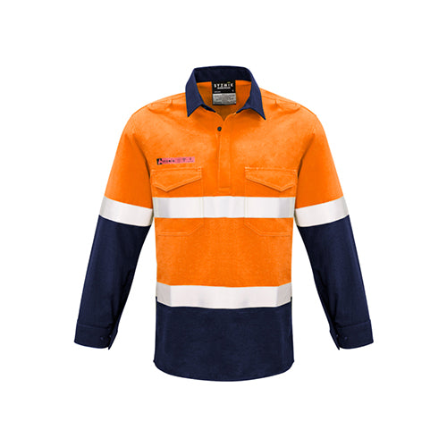 Syzmik Workwear | Mens FR Closed Front Hooped Taped Spliced Shirt | ZW133