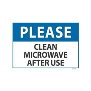 Please Clean Microwave Sign | 340mm x 240mm