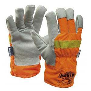 Reflector Rigger Glove with Reflective Back and Thinsulate Lining | 12 Pairs