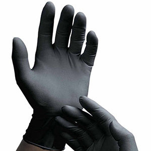 Selfgard 346L Nitrile Black Gloves | Box of 100