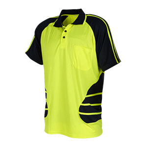 Hi Vis Shirt | Short Sleeve Two Tone Polo | Workwear