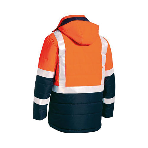 Bisley | Taped Two Tone Hi Vis Puffer Jacket | BJ6929HT