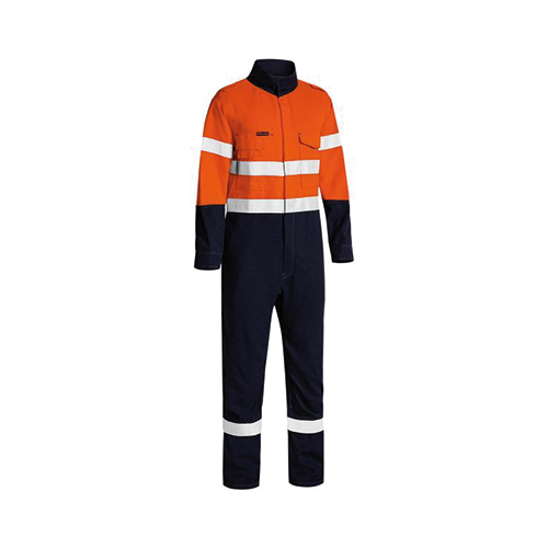Bisley | Tencate Tecasafe Plus 580 Taped Hi Vis Lightweight FR Non Vented Engineered Coverall | BC8186T