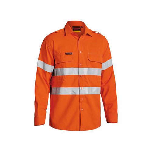 Bisley | Tencate Tecasafe Plus 700 Taped Hi Vis FR Vented Shirt | BS8081T