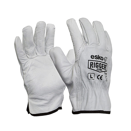 Esko | The Rigger Premium Cowhide Gloves Header Carded | 12 Pairs