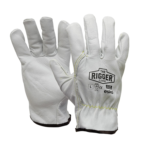 Esko | The Rigger Premium Cowhide Kevlar Stitched Gloves | 12 Pairs