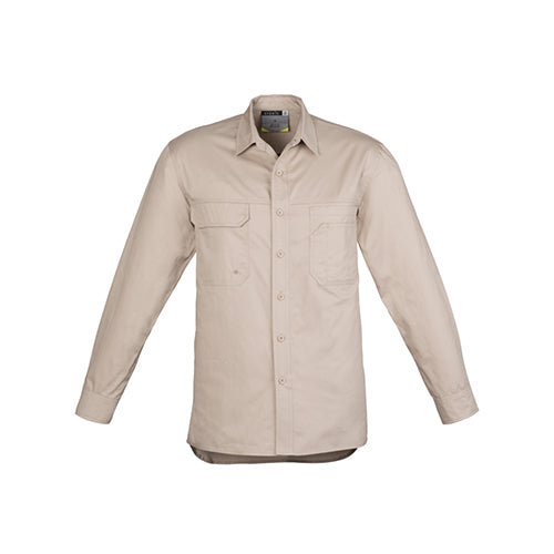 Syzmik Workwear | Mens Lightweight Tradie Long Sleeve Shirt | ZW121