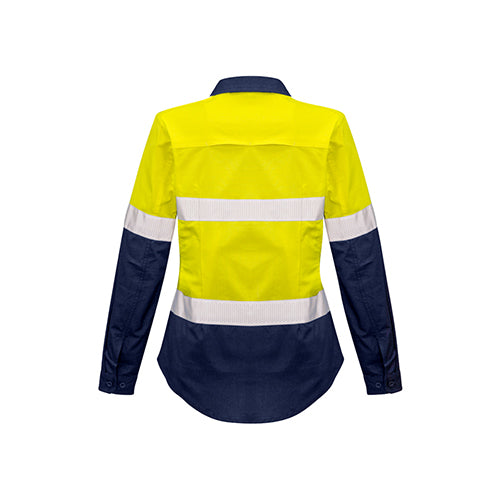 Syzmik Workwear | Womens Rugged Cooling Taped Hi Vis Spliced Long Sleeve Shirt | ZW720