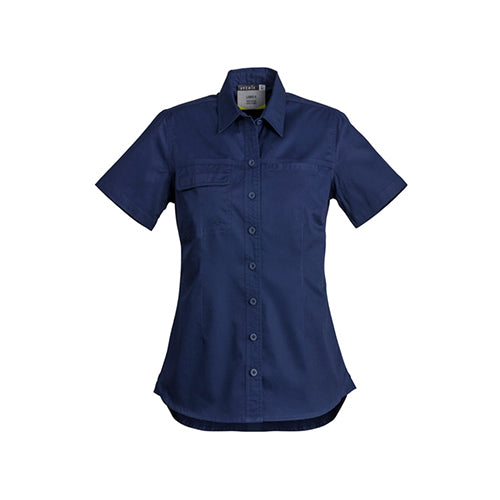 Syzmik Workwear | Womens Lightweight Tradie Short Sleeve Shirt | ZWL120