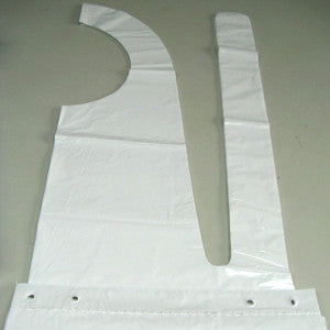 Aprons Plastic Disposable White