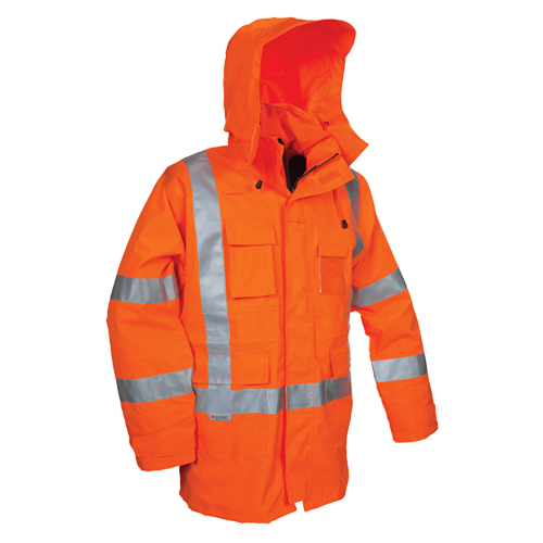 Tuffviz | Hi Vis Wet Weather Highway Jacket