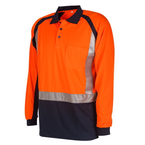 Hi Vis Shirt | Long Sleeve | Two Tone Polo