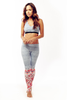 DENIM YOGA PANT TRIBAL LEG