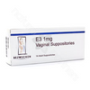 E3 1 mg 14 Lubricating Suppositories