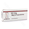 E3 2 mg 14 Lubricating Suppositories