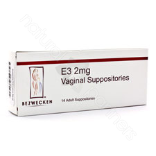 E3 2 mg 28 Lubricating Suppositories